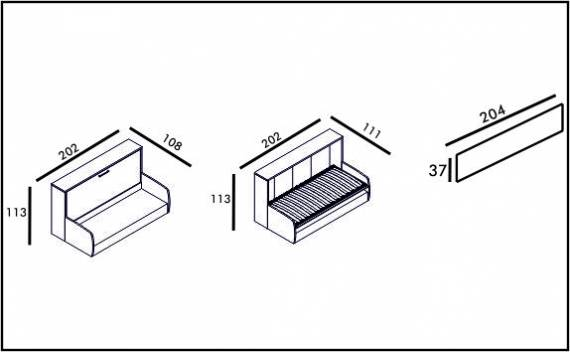 Diva Sofa - Technical drawing