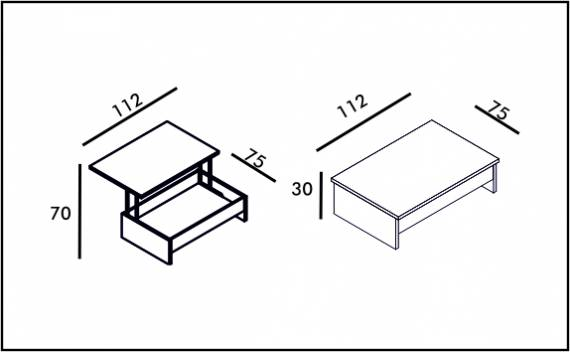 Coffee Table - Technical drawing